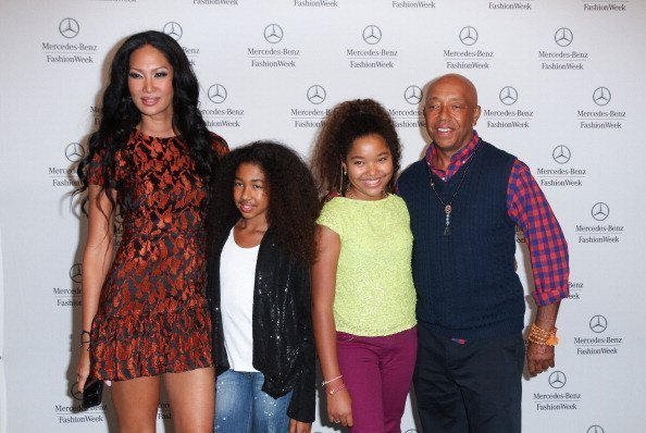 Kimora Lee Simmons, Aoki Lee, Ming Lee and Russell Simmons are seen around Lincoln Center on September 7, 2012 | Photo: Getty Images