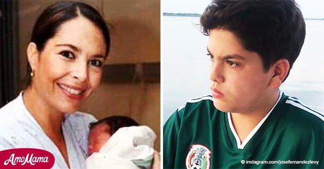 Hijo de la fallecida actriz Mariana Levy ya creció, y ahora se parece a su madre