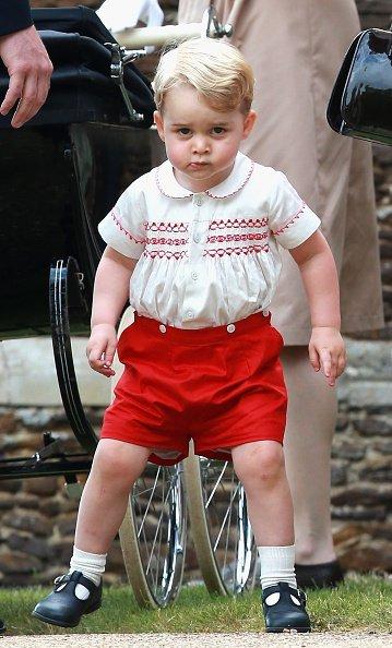 Prinz George, Taufe von Prinzessin Charlotte, 2015 | Quelle: Getty Images