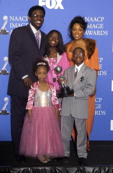 """Cast members of the """"Bernie Mac Show"""" at Universal Amphitheatre, California.