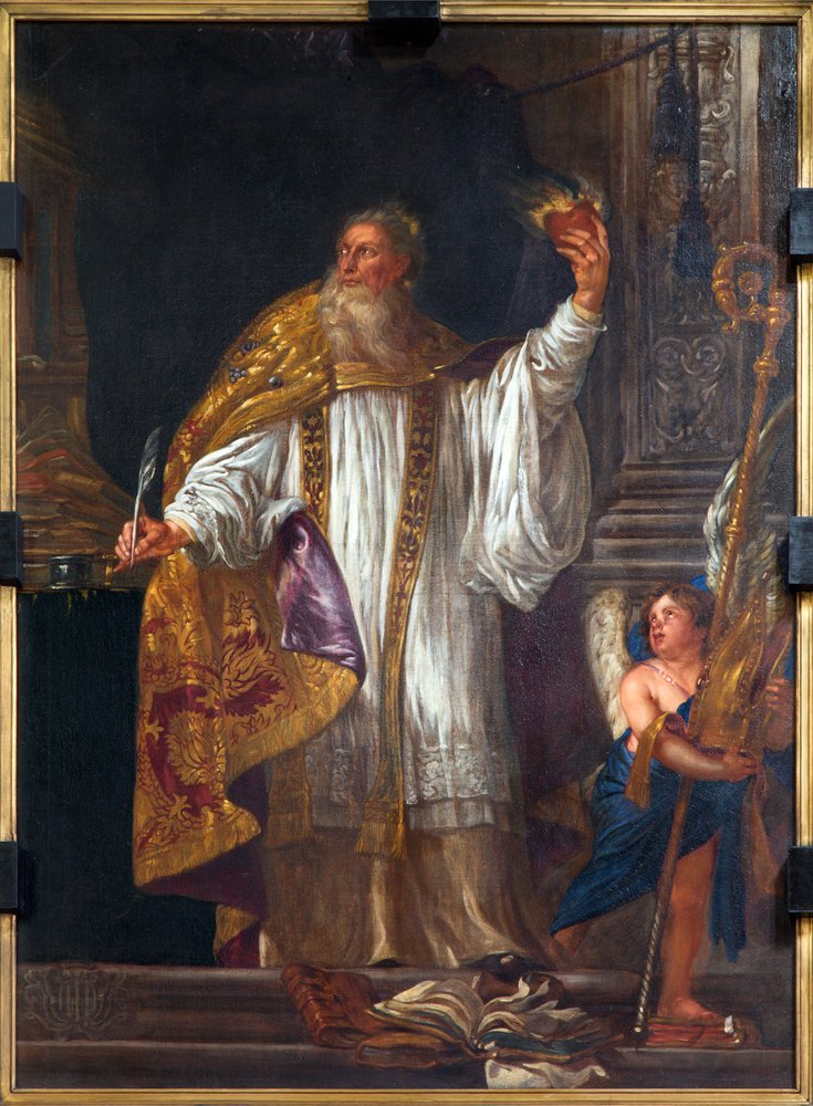 Pintura de San Agustín hecha por Lucas II Franchois de Jonge.| Fuente: Shutterstock