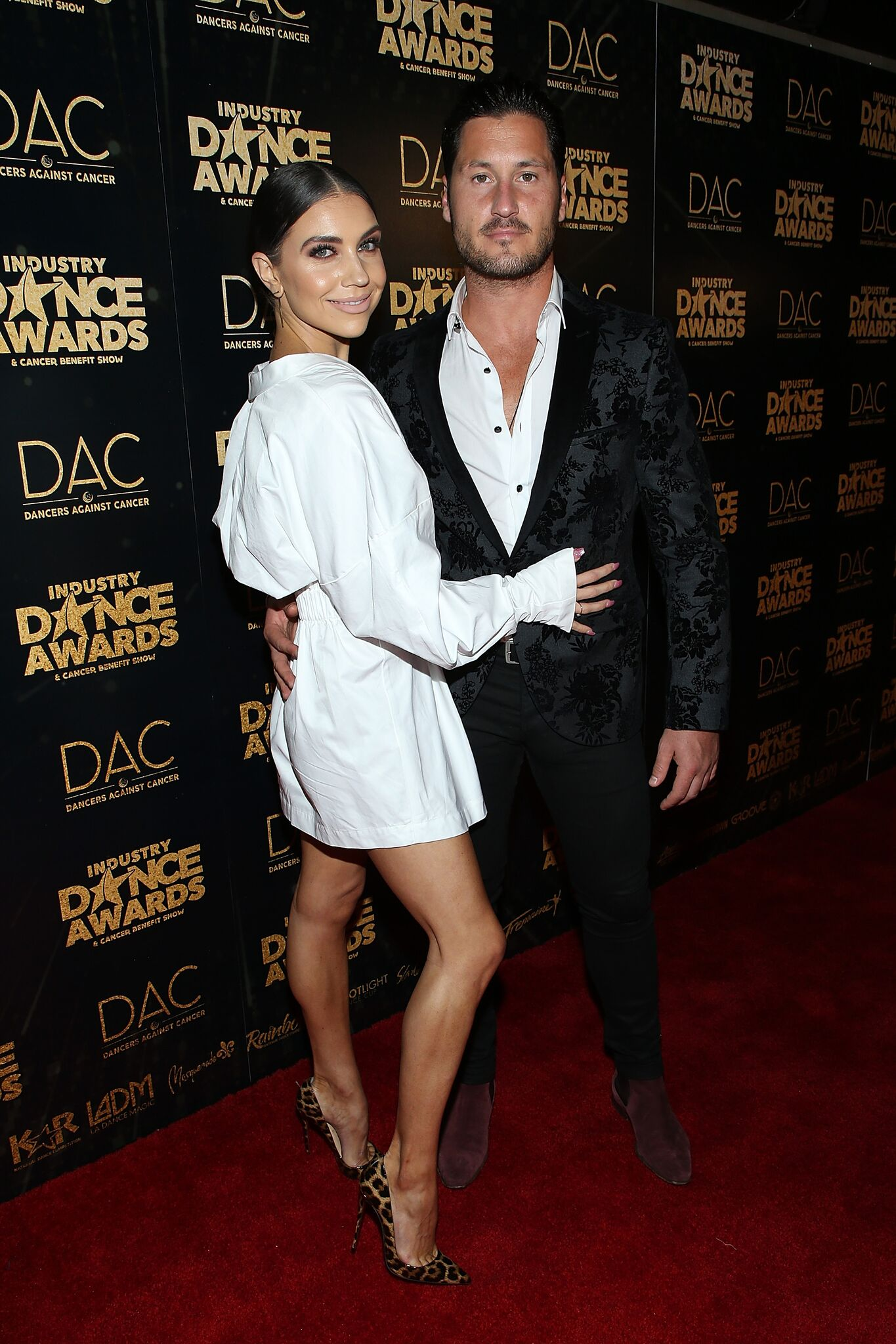 Jenna Johnson (L) and Valentin Chmerkovskiy attend the 2018 Industry Dance Awards at Avalon Hollywood | Getty Images