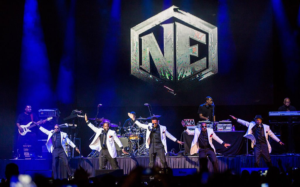 New Edition performing at the Holiday Jam, December 2015 | Source: Getty Images
