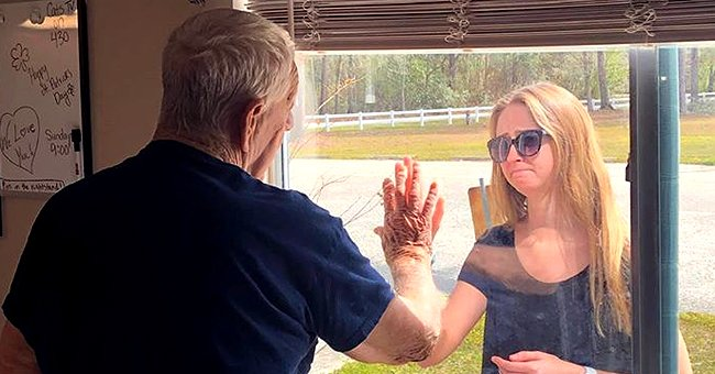 North Carolina Woman Shares News of Her Engagement with Grandpa through Glass Window Amid COVID-19 Quarantine