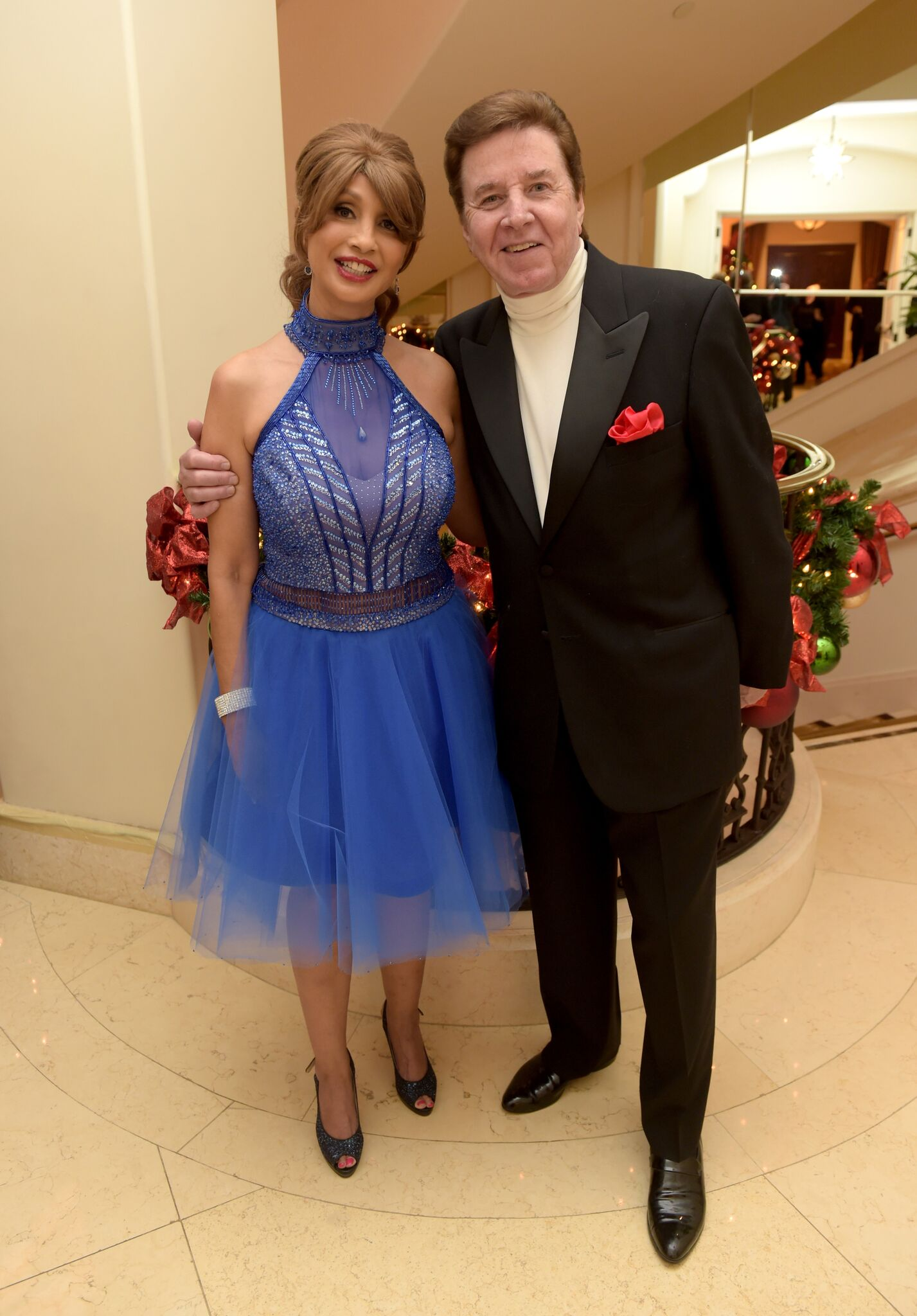 Brigitte Sherman (L) and singer Bobby Sherman attend the Brigitte and Bobby Sherman Children's Foundation's 6th Annual Christmas Gala and Fundraiser | Getty Images / Global Images Ukraine