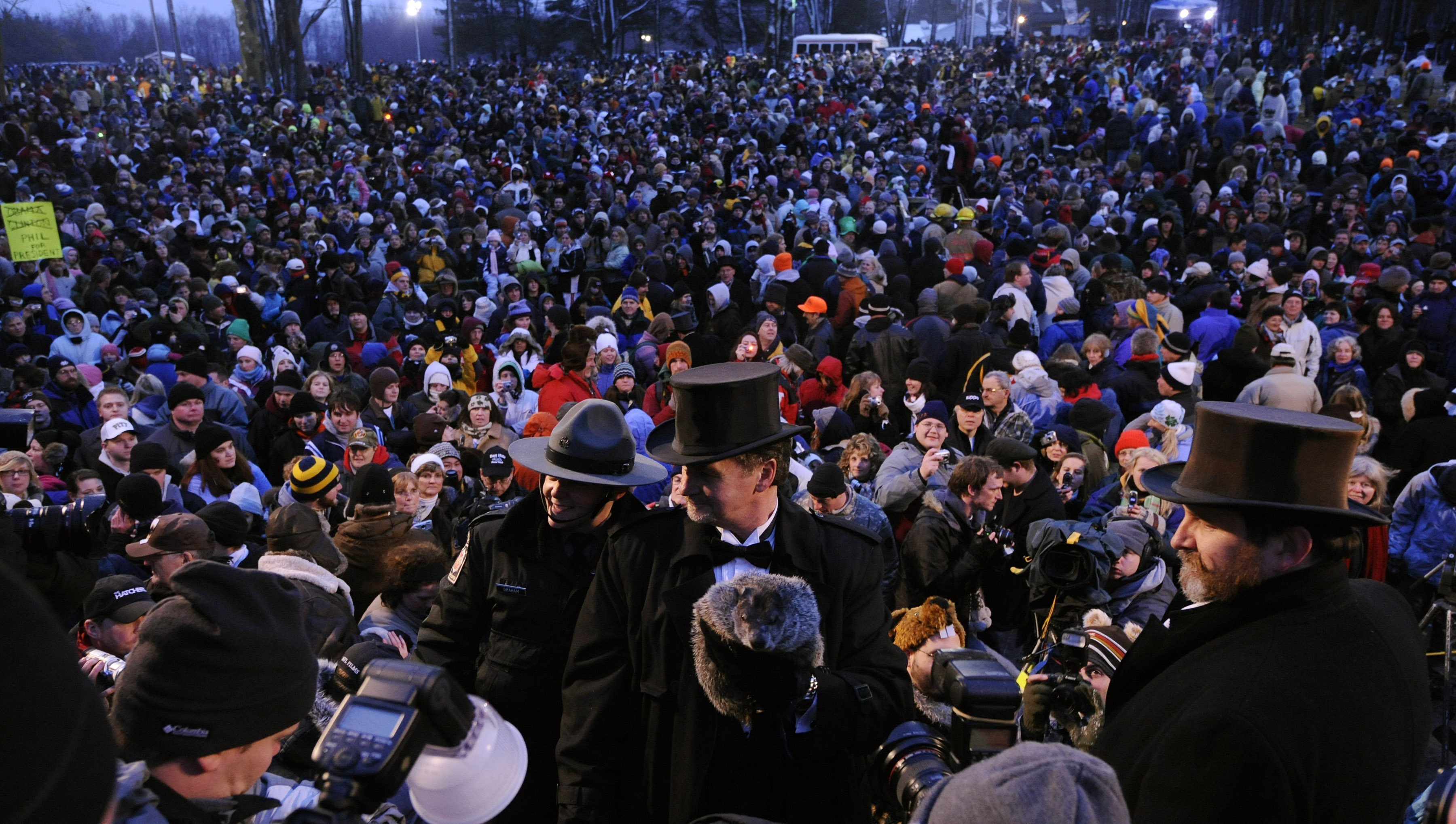 Thousands of people gathered on Groundhog Day | Photo; Getty Images