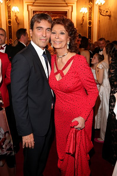 Sophia Loren and Carlo Ponti Jr. at Vienna State Opera on October 20, 2019 in Vienna, Austria   Photo: Getty Images