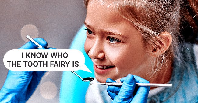 A little girl talking to her dentist about tooth fairies | Photo: Shutterstock
