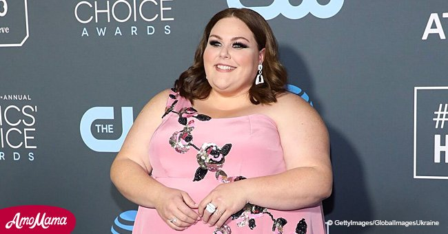 Chrissy Metz turns heads in a pink dress embroidered with fascinating flowers by a late designer