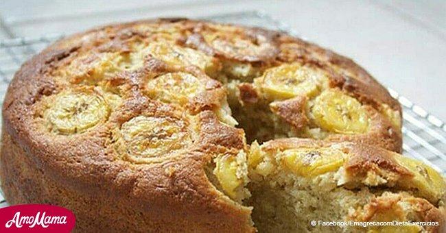 Cómo preparar pastel de plátano sin harina, azúcar o leche, pero con gran sabor