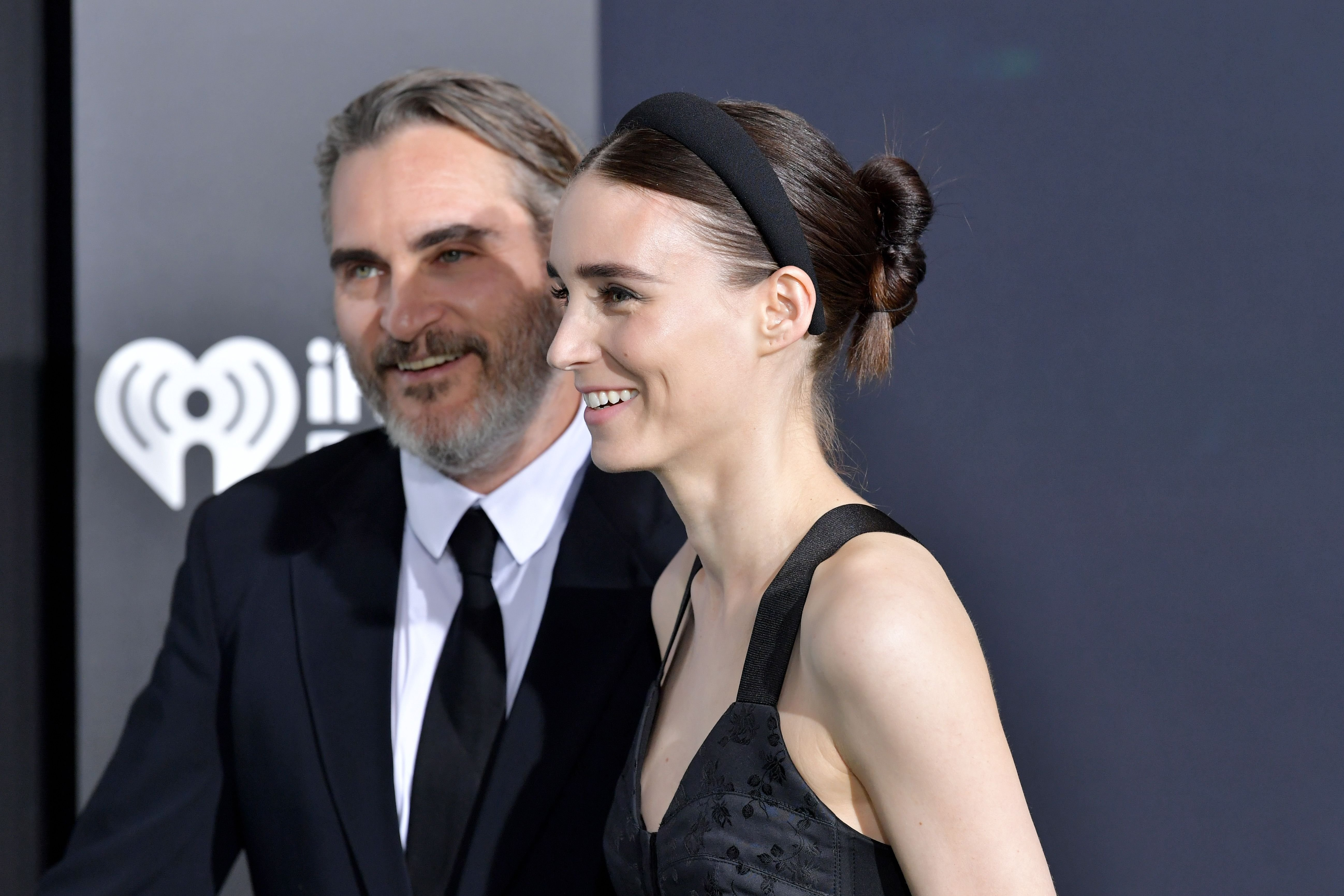 "Joaquin Phoenix and Rooney Mara at the premiere of Warner Bros Pictures ""Joker"" on September 28, 2019 in Hollywood, California. 