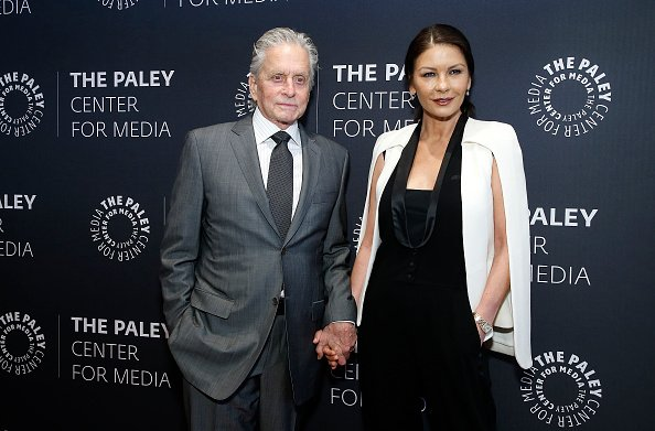 Michael Douglas and Catherine Zeta-Jones attend A Paley Honors Luncheon celebrating Michael Douglas at The Paley Center for Media | Photo: Getty Images