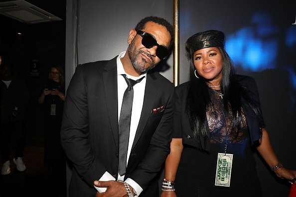 Jim Jones and Chrissy Lampkin attend Jay-Z Performs At Webster Hall - Backstage on April 26, 2019 | Photo: Getty Images