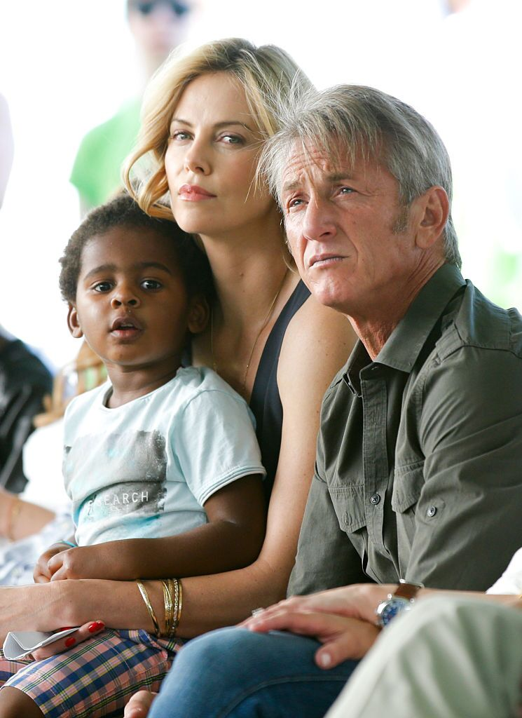 Jackson Theron, actress Charlize Theron and actor Sean Penn attend the Points of Light generationOn Block Party  | Getty Images