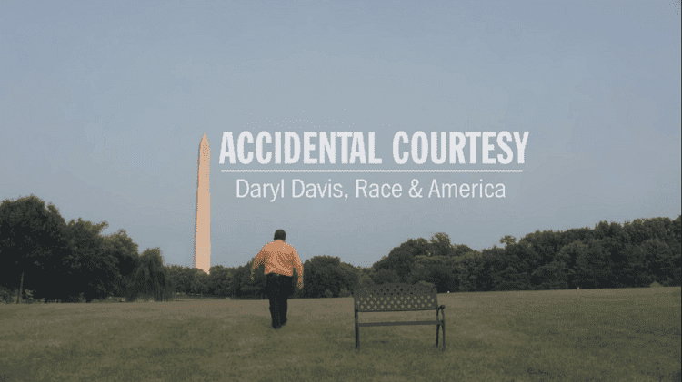 """Daryl Davis walking away in the trailer of the documentary film """"Accidental Courtesy"""" 