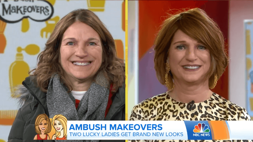Julie before and after the makeover | Source: YouTube/TODAY