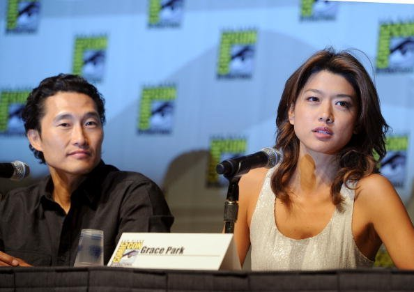Daniel Dae Kim and Grace Park at San Diego Convention Center on July 23, 2010 in San Diego, California. | Photo: Getty Images