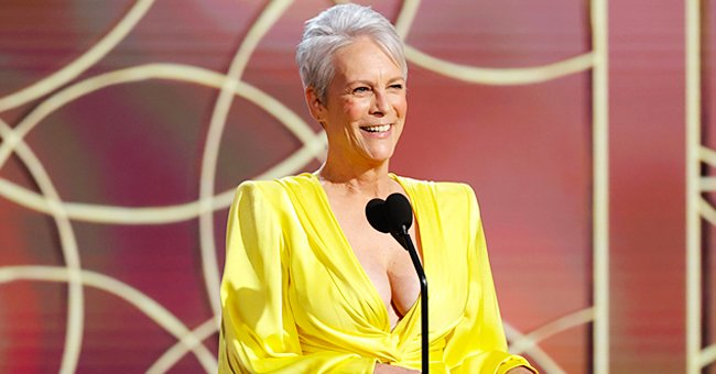 Jamie Lee Curtis pictured presenting at the 78th Golden Globes, 2021. | Photo: Getty Images