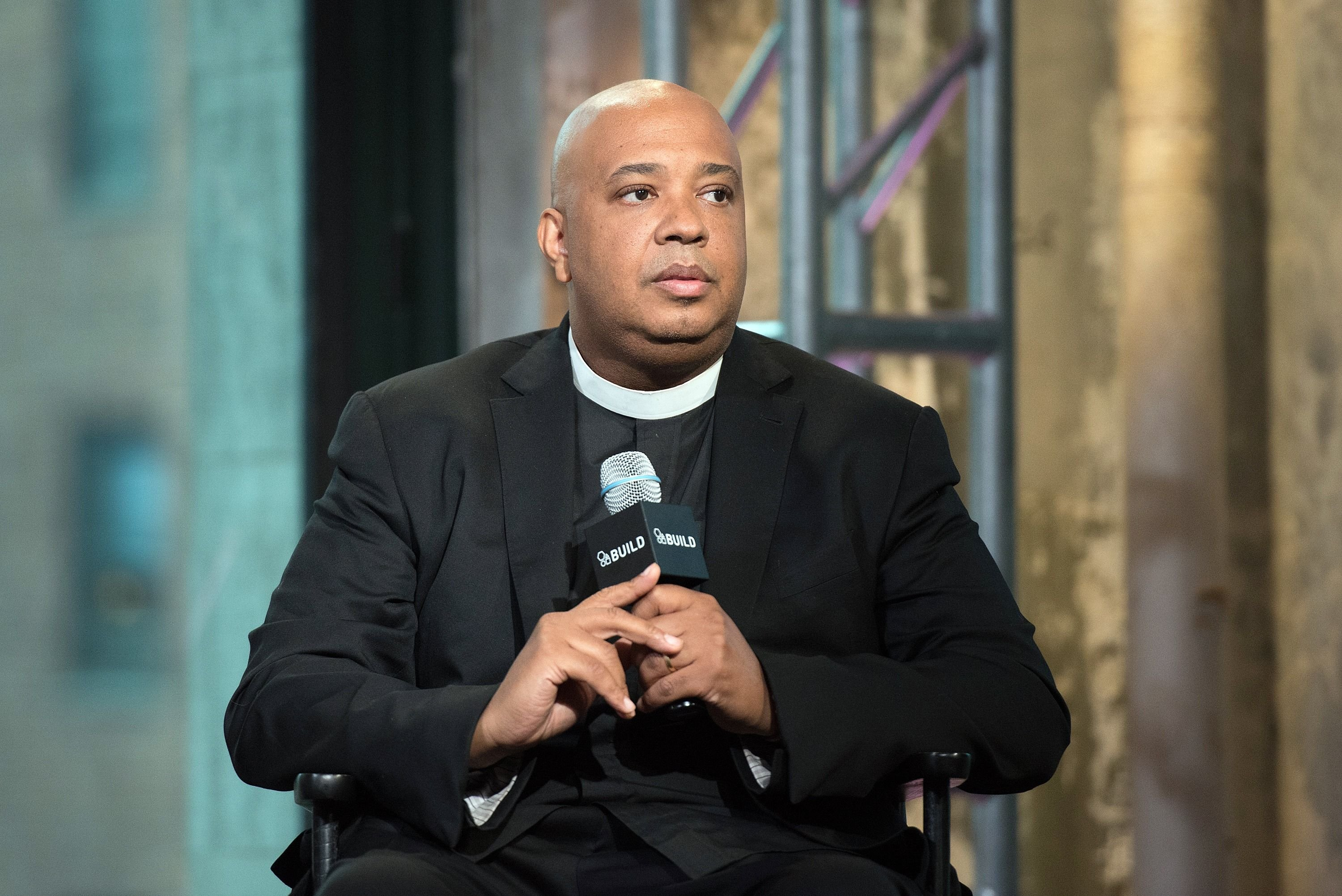 Joseph 'Rev Run' Simmons at AOL BUILD presents: Rev Run and Justine Simmons at AOL Studios In New York on October 13, 2015.   Photo: Getty Images