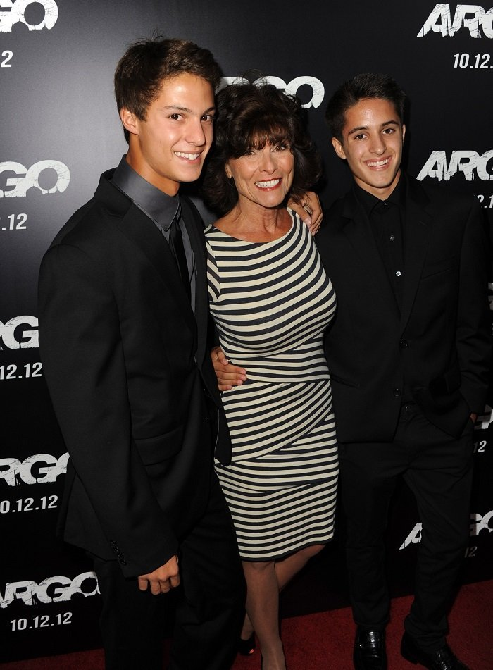 Adrienne Barbeau and her twins at AMPAS Samuel Goldwyn Theater on October 4, 2012 in Beverly Hills, California | Source: Getty Images