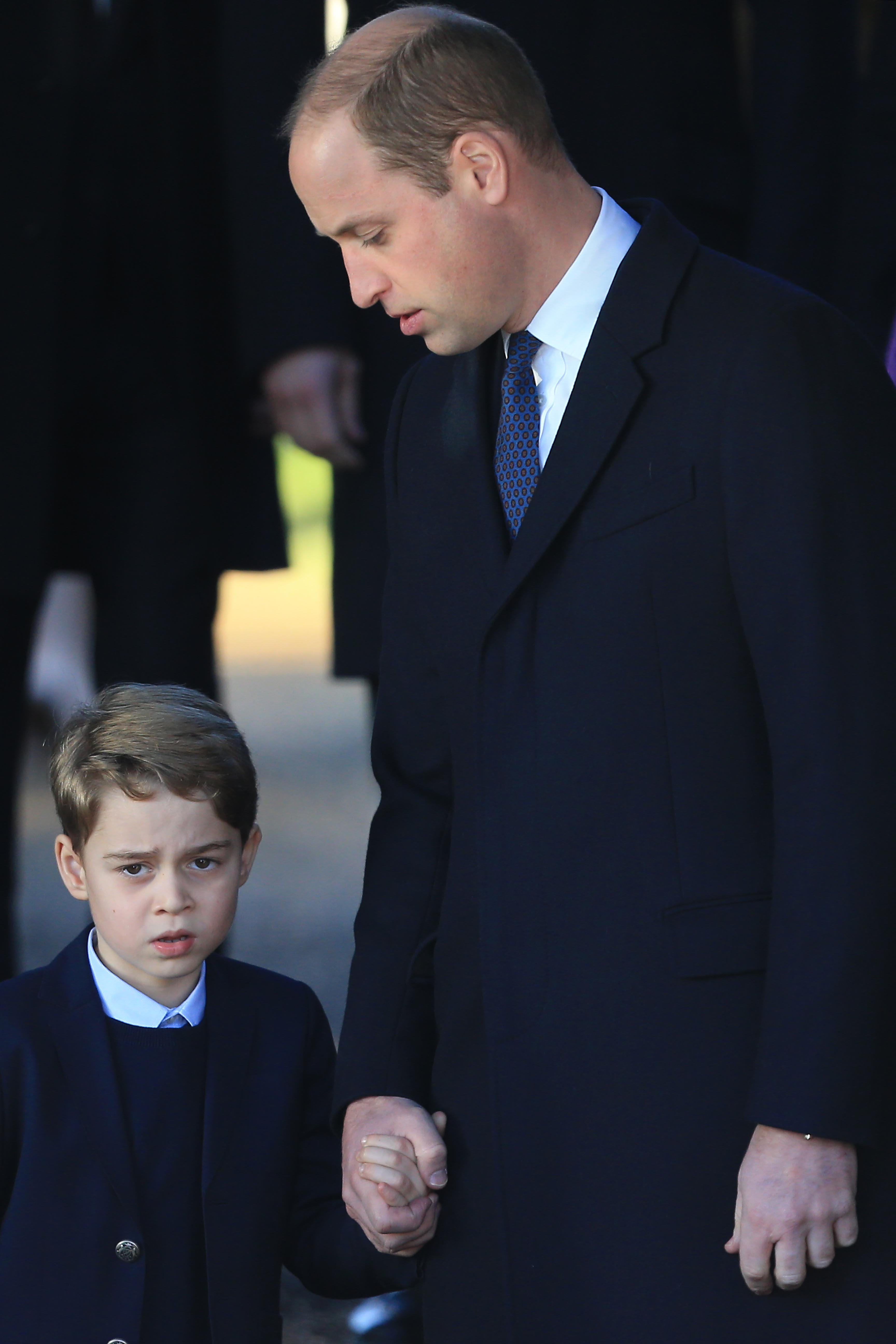 Prince William and Prince George attend the Christmas Day Church Service in King's Lynn, United Kingdom on December 25, 2019 | Photo: Getty Images