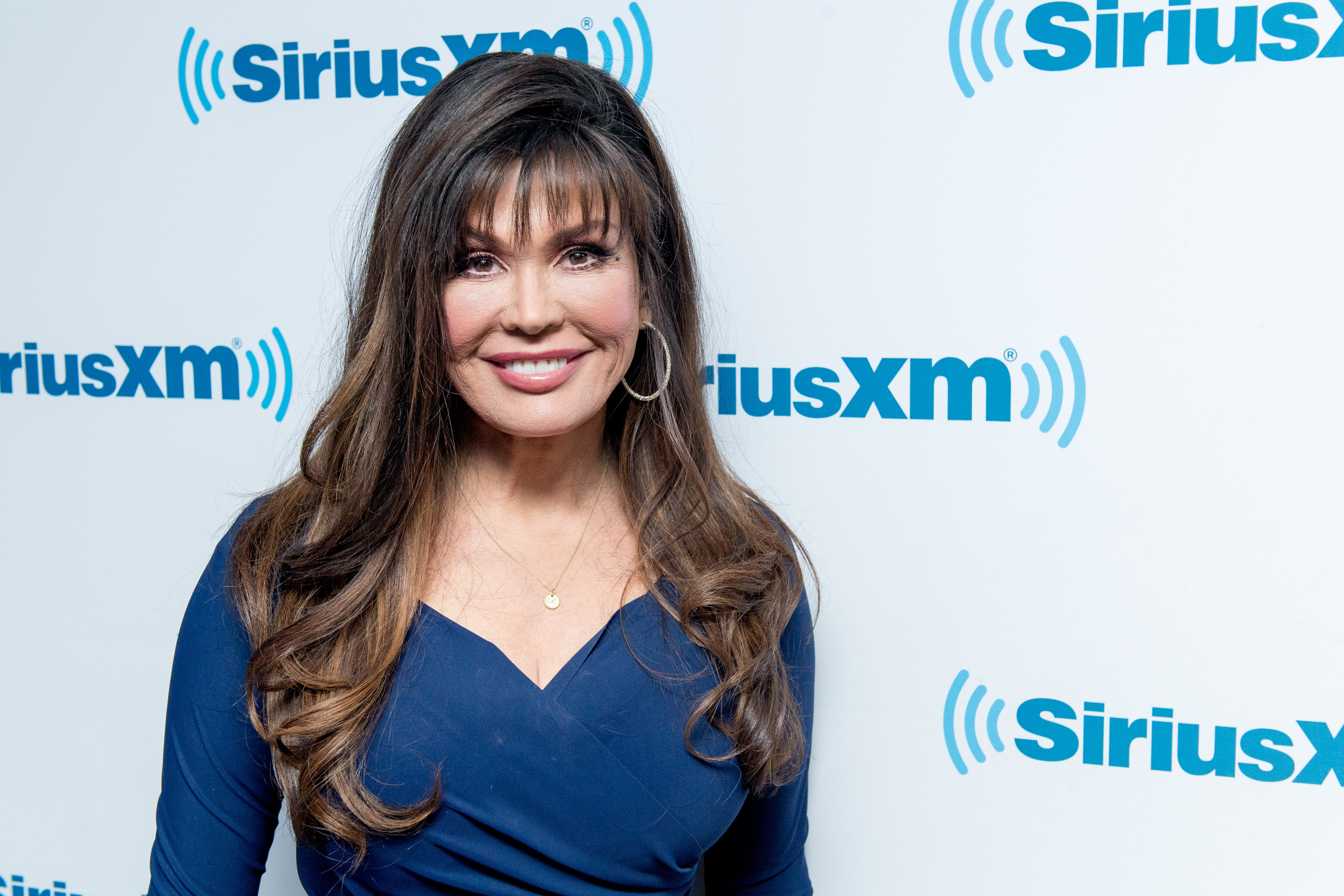 Marie Osmond pictured visiting the Andy Cohen show at SiriusXM Studios, January 2018 in New York City.   Photo: Getty Images