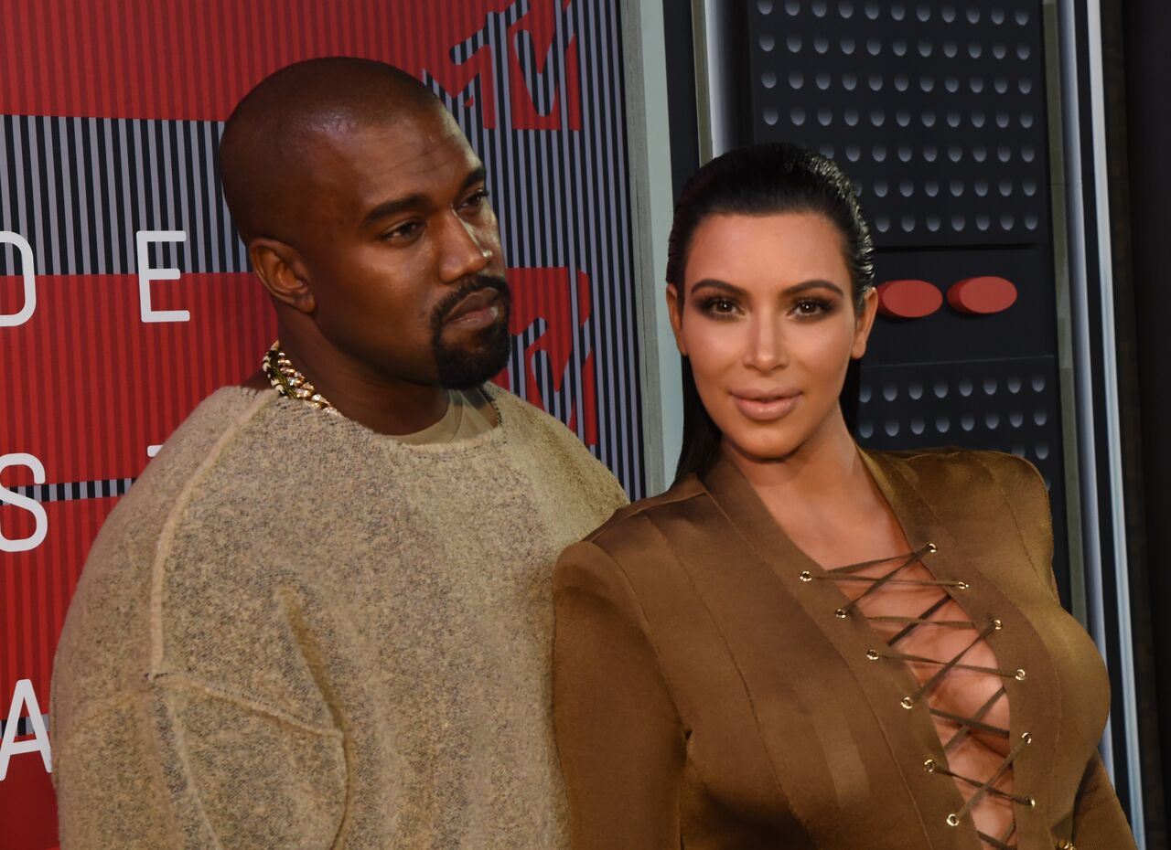 Kayne West and TV personality Kim Kardashian attend the 2015 MTV Video Music Awards at Microsoft Theater on August 30, 2015 in Los Angeles, California | Photo: Getty Images