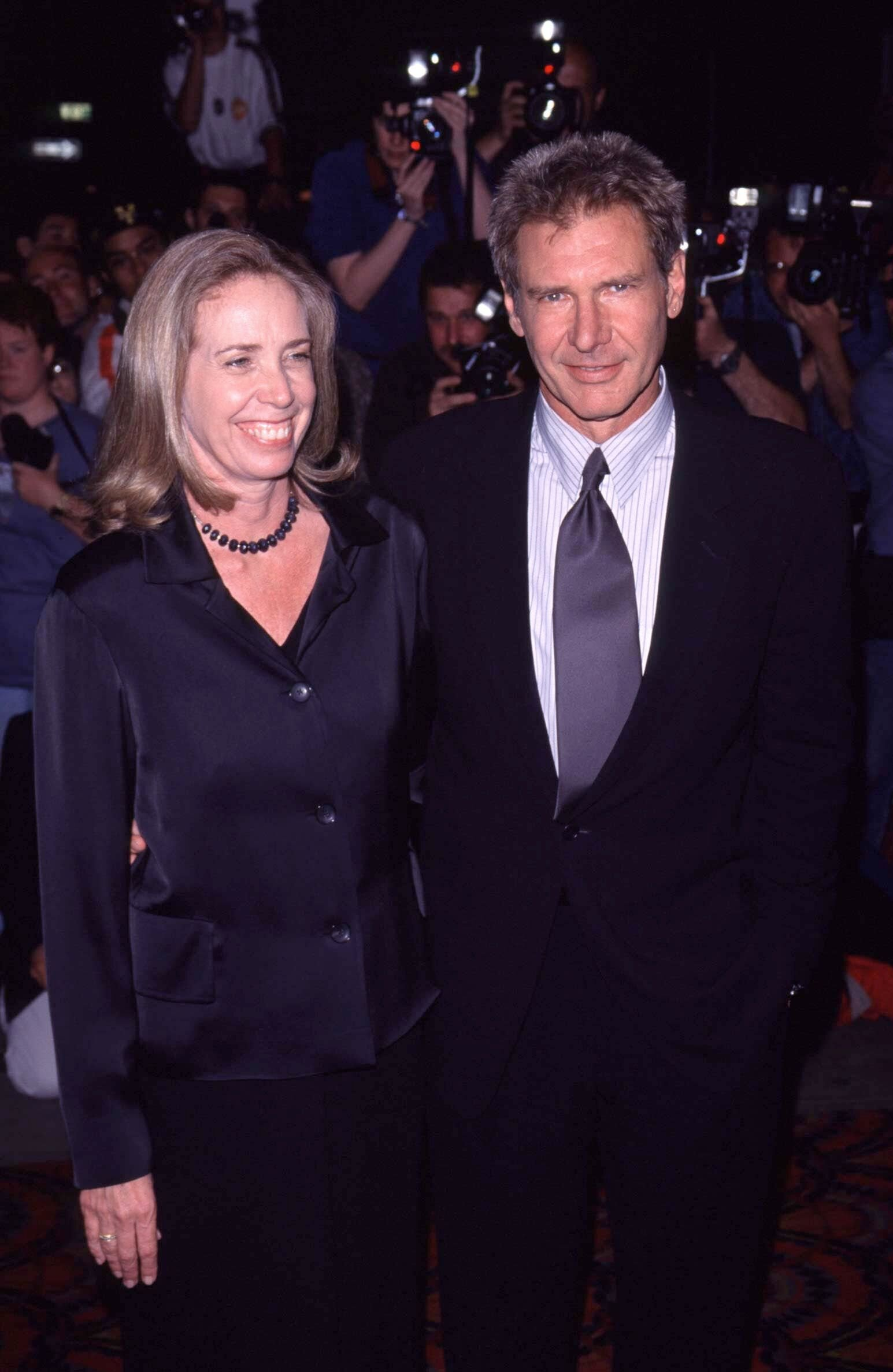 Melissa Mathison and Harrison Ford. l Image: Getty Images.