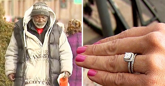 Woman Accidentally Drops Her Engagement Ring in Homeless Man's Cup, Days Later He Shocks Her – Story of the Day