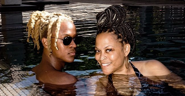 Shaunie O'Neal's Son Flaunts Braids While Posing with Mom in the Pool on Her Birthday