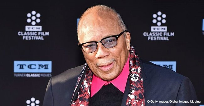 Quincy Jones is a lucky man as he shares rare pic with his 6 daughters who look so much like him