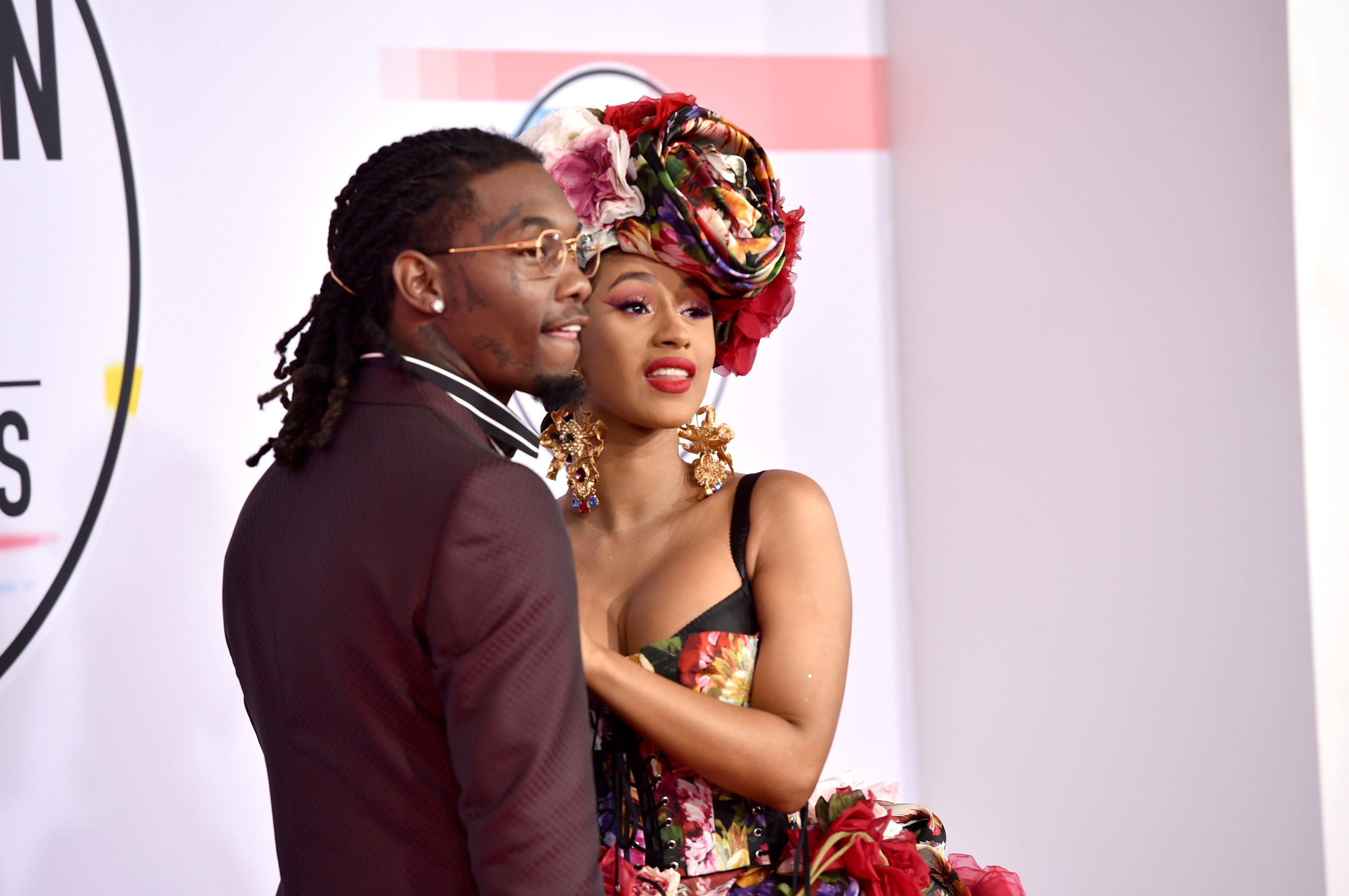Offset and Cardi B at the 2018 American Music Awards on October 9, 2018 in Los Angeles, California.   Source: Getty Images