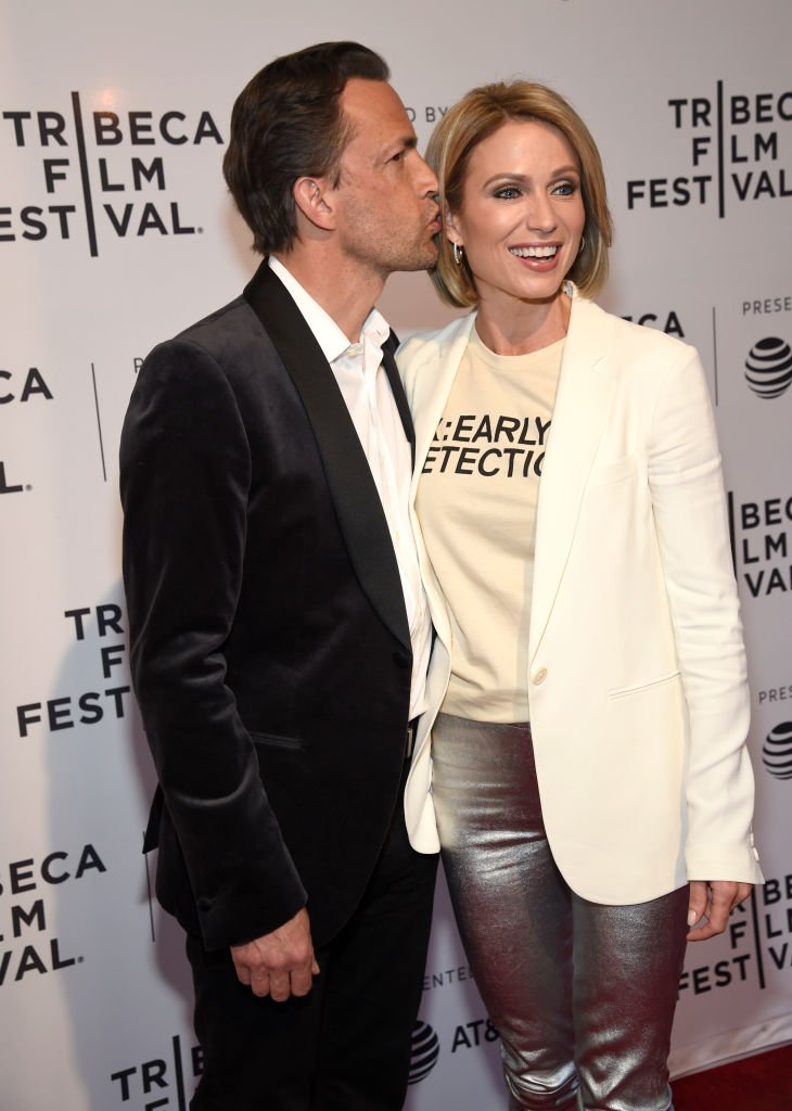 """Andrew Shue and Amy Robach attend the HBO Documentary Film """"RX: Early Detection A Cancer Journey With Sandra Lee"""" during The Tribeca Film Festival  