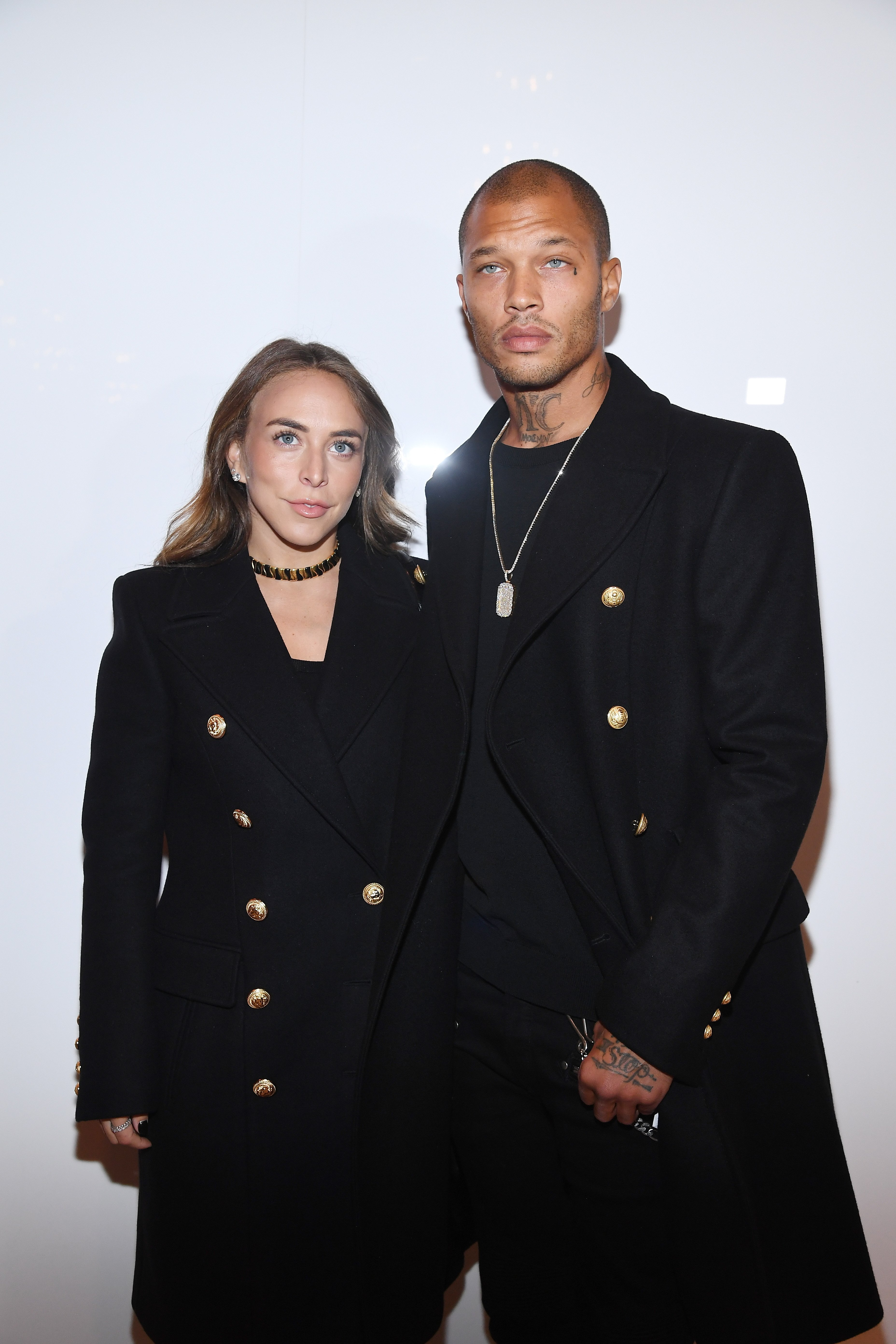 Chloe Green and Jeremy Meeks at the Paris Fashion Week on January 20, 2018 in Paris, France | Photo: Getty Images