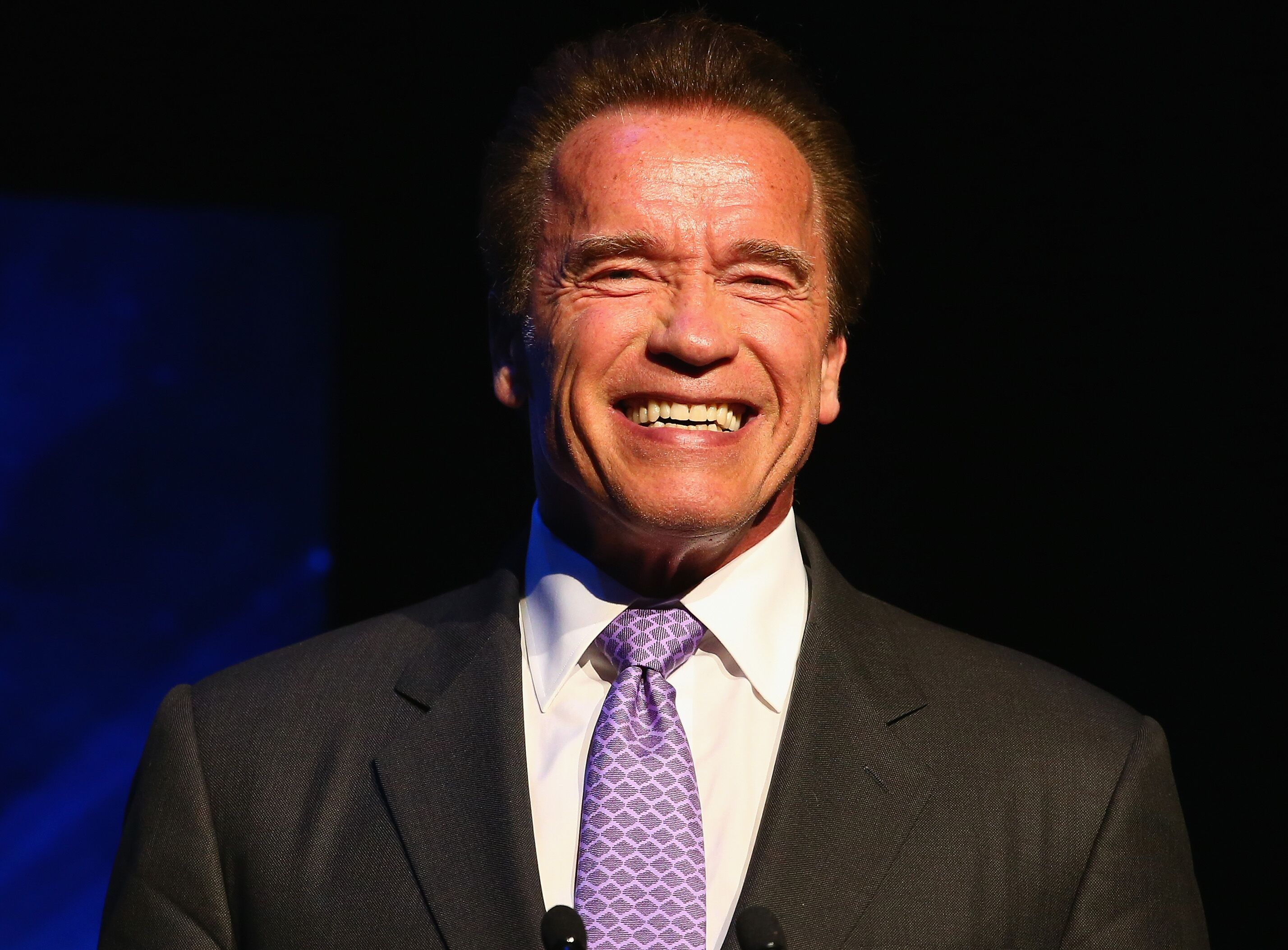 Arnold Schwarzenegger speaks on stage during the Arnold Classic Australia at The Melbourne Convention and Exhibition Centre on March 14, 2015 in Melbourne, Australia | Source: Getty Images