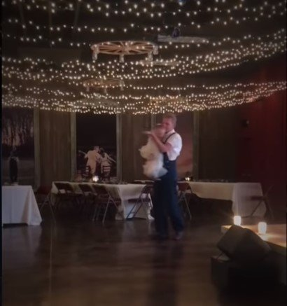 """Rory Feek dances with his daughter, Indiana Feek to a Keith Whitley song titled """"I'm over you""""  
