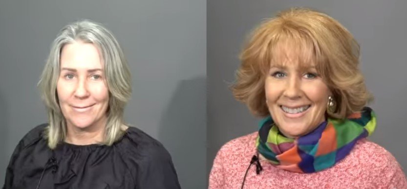 Cheryl's before and after makeover photo | Photo: Youtube /  MAKEOVERGUY Minneapolis