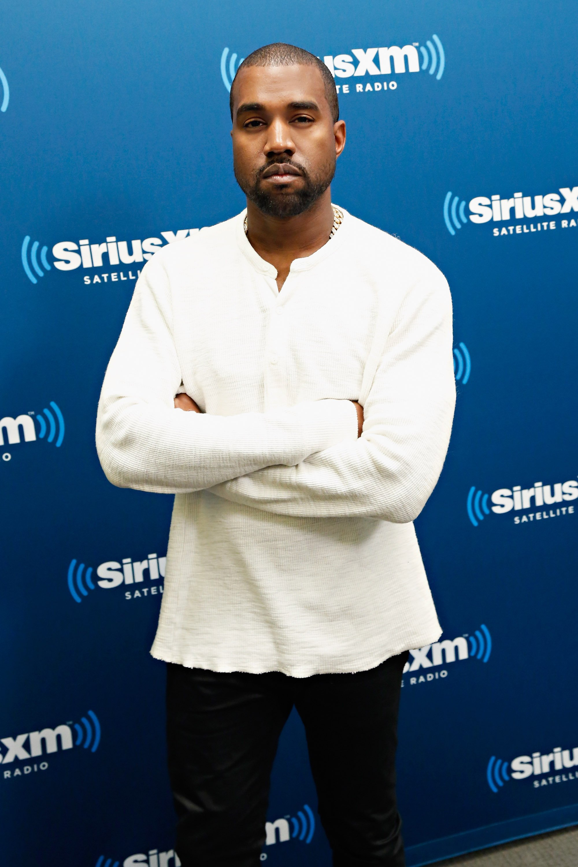 Kanye West visits the SiriusXM Studios on November 26, 2013, in New York City.   Source: Getty Images.
