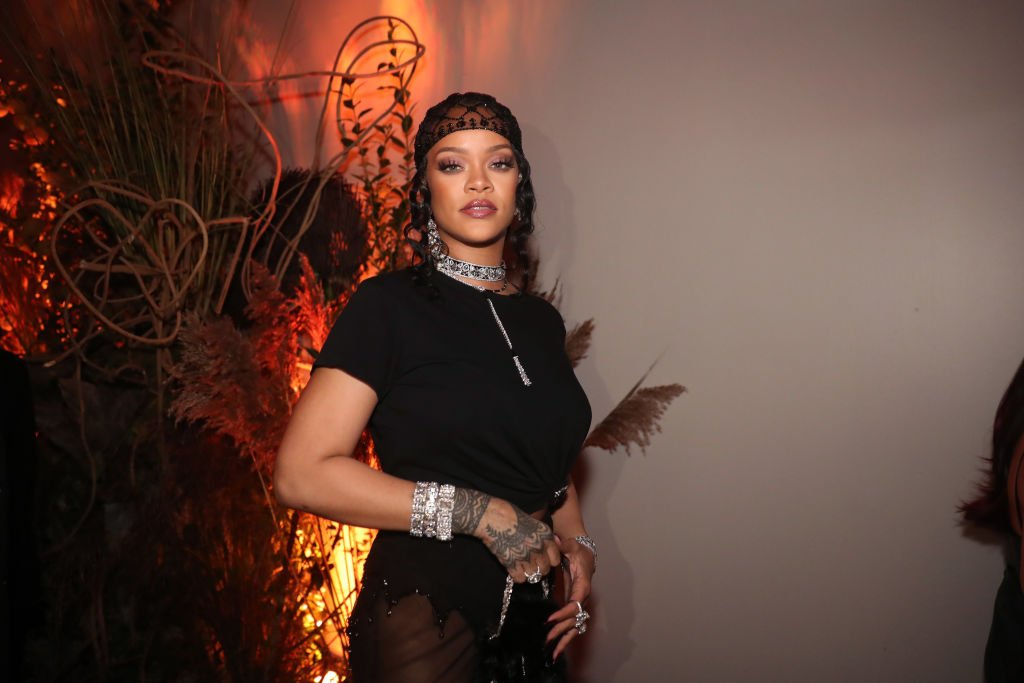 Rihanna attends her Met Gala After Party at Davide, September 2021 | Source: Getty Images