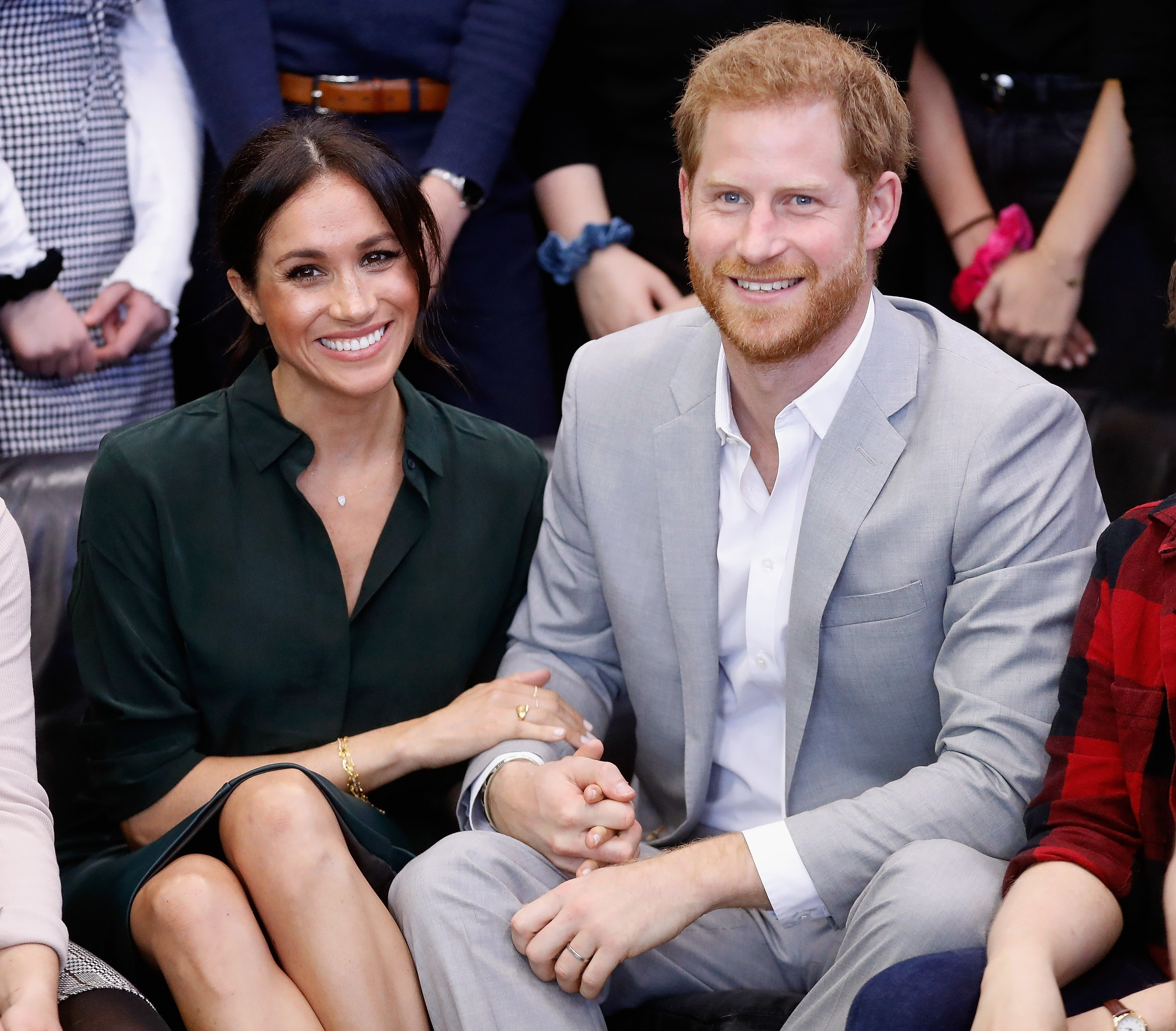 Prince Harry and Meghan Markle during their official visit to the Joff Youth Centre in Peacehaven, Sussex on October 3, 2018, in Peacehaven, United Kingdom. | Source: Getty Images.