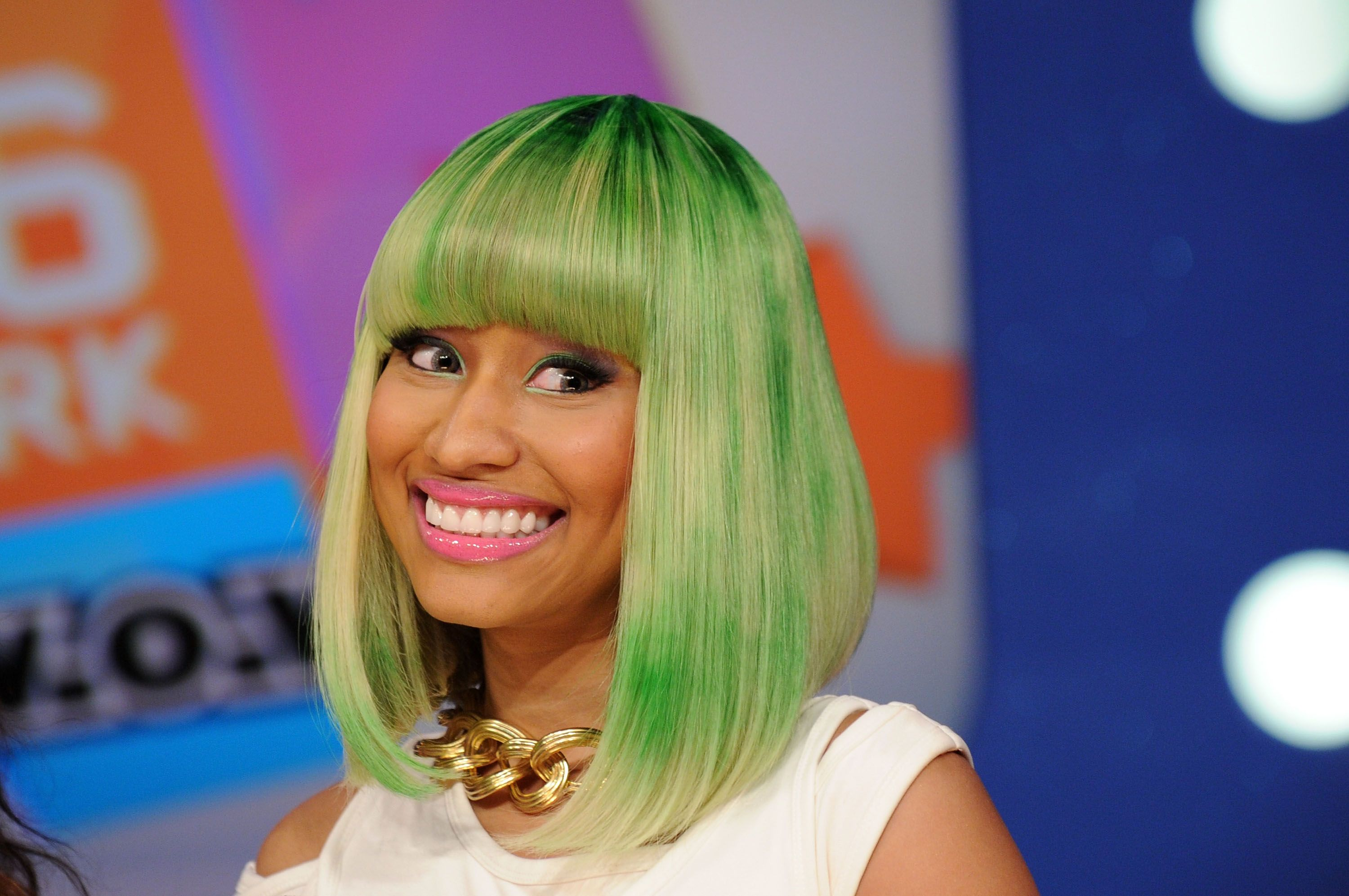Nicki Minaj during BET's 106 & Park at BET Studios on March 31, 2010 in New York City. | Source: Getty Images