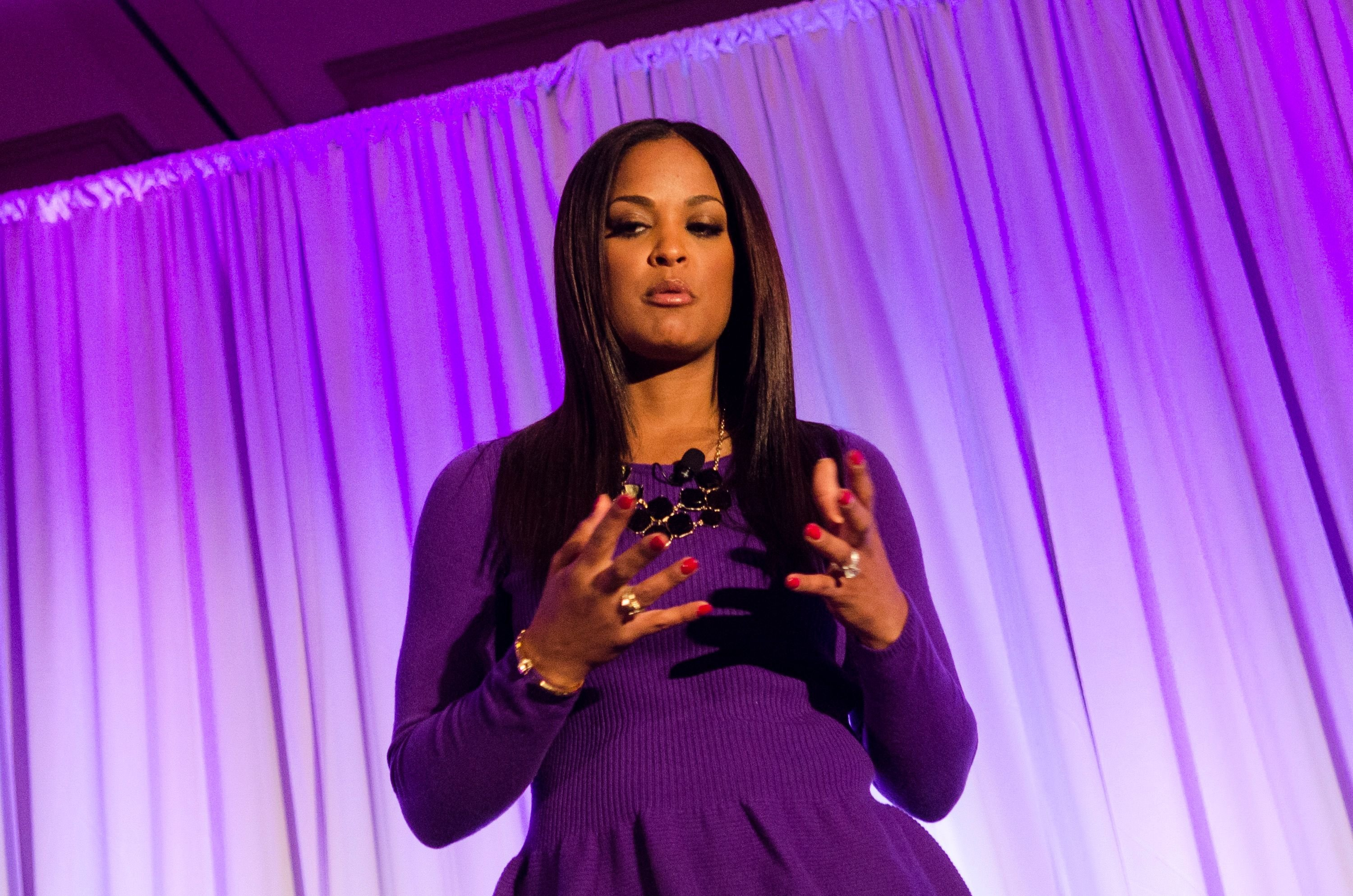 Laila Ali at the 6th annual Get RADICAL Women's Conference at the Hyatt Regency on March 21, 2014 | Photo: Getty Images