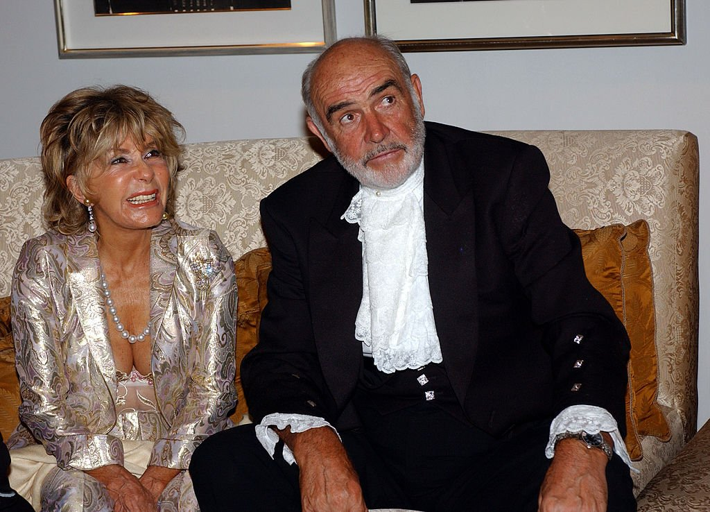 Sean Connery and his wife Micheline Roquebrune during The 75th Annual Academy Awards - Miramax After Party at St. Regis Hotel in Los Angeles, California | Photo: Getty Images