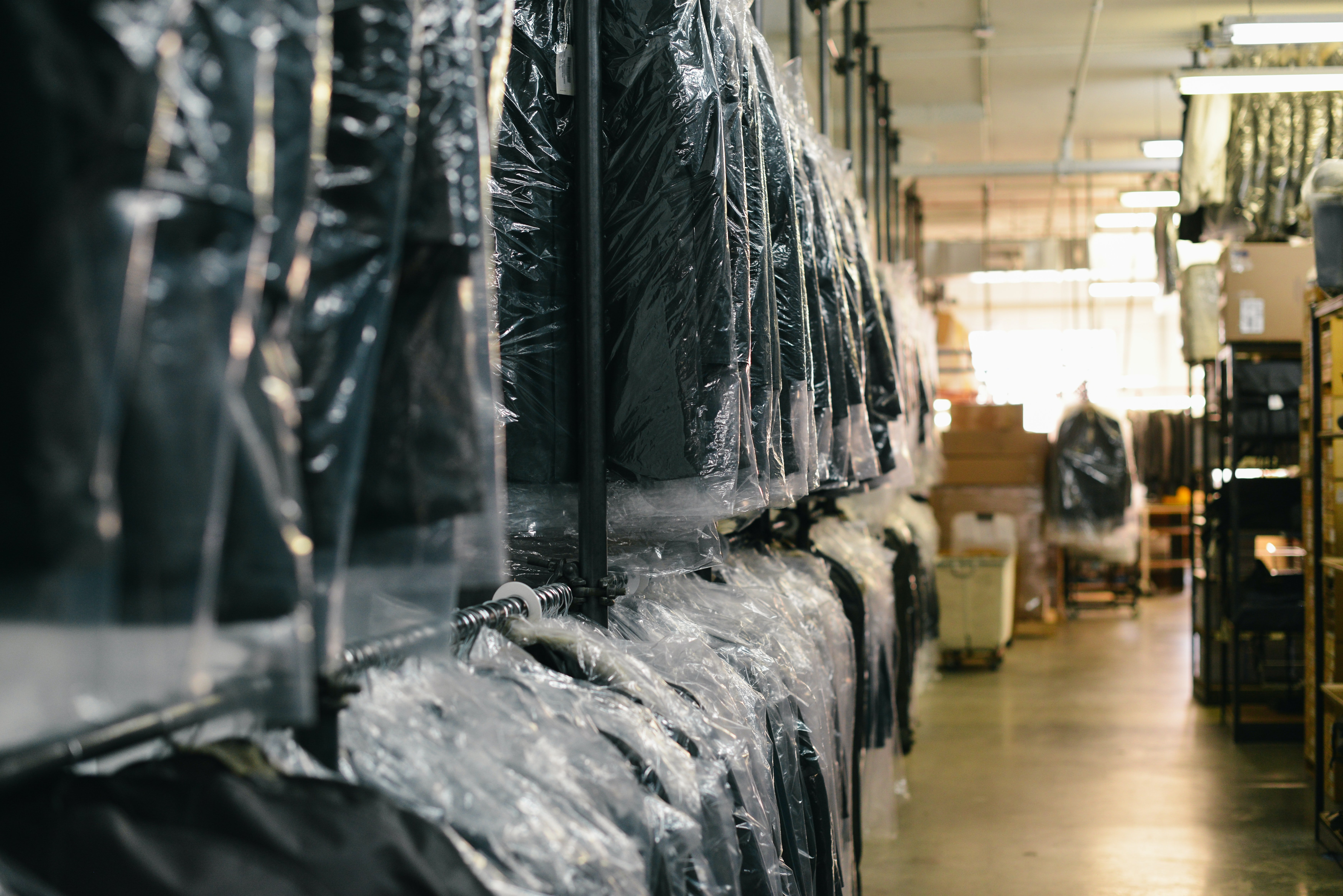 Matt and Josh accompanied Edward to the section where second-hand clothes were kept   Photo: Unsplash