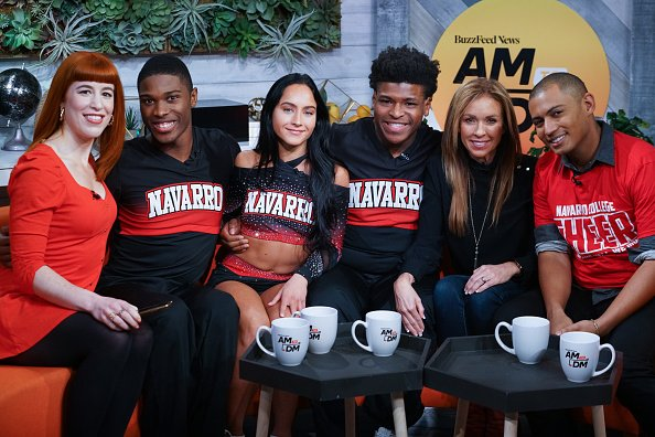 """La'Darius Marshall, Gabi Butler, Jerry Harris and Monica Aldama at BuzzFeed's """"AM To DM"""" on January 30, 2020 in New York City. 