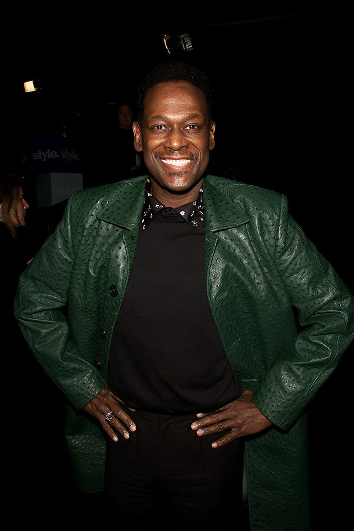 Luther Vandross attends the Sean John Fall 2001 Fashion Show at Bryant Park in New York City   Photo: Getty Images.