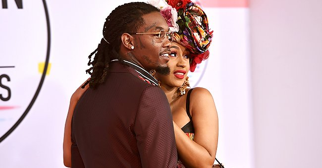 Cardi B's Daughter Kulture Looks Cute in Headband with a Bow as She Kisses Her Toy Minnie Mouse