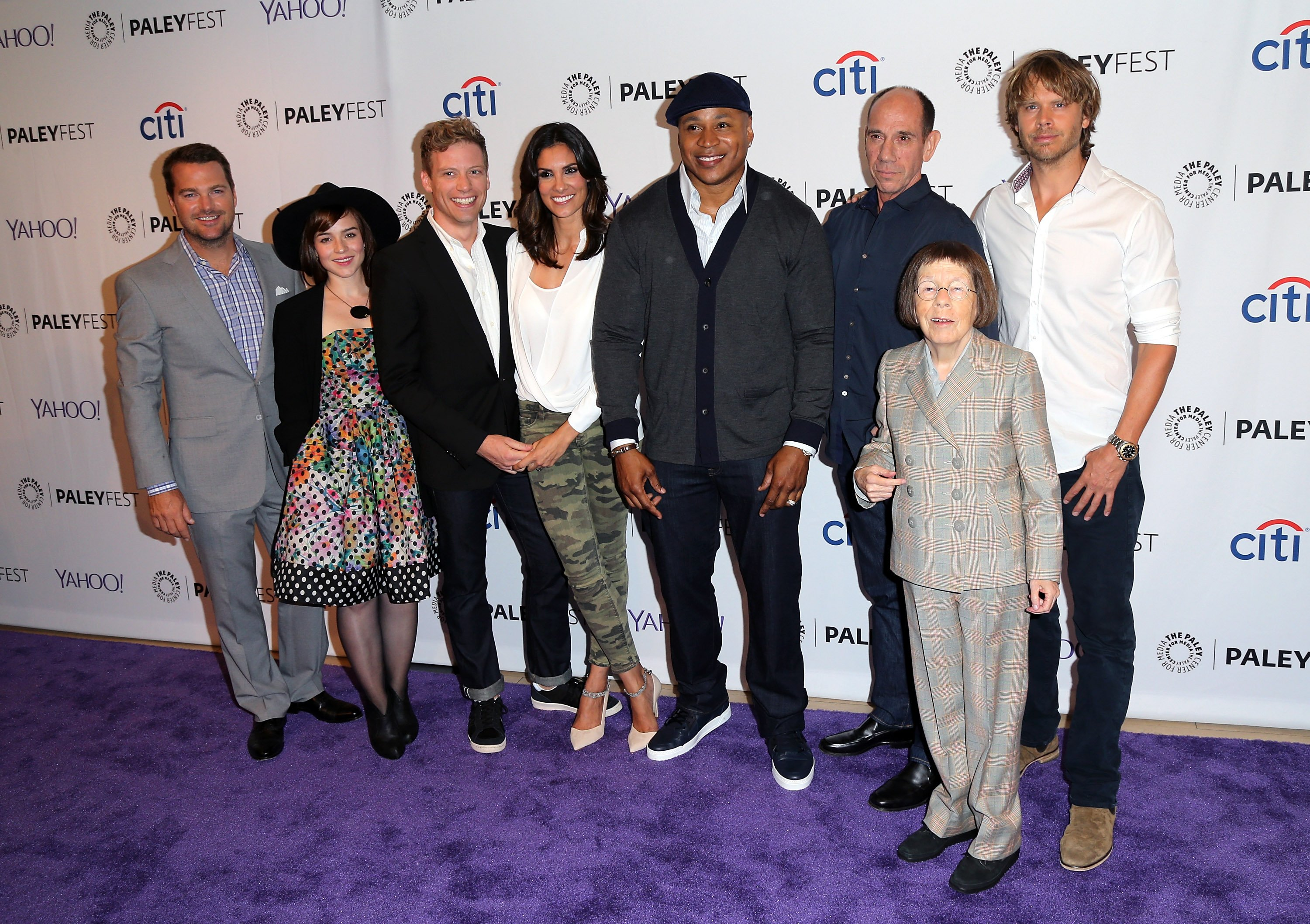 """The cast of """"NCIS: Los Angeles"""" during the PaleyFest at the The Paley Center for Media 