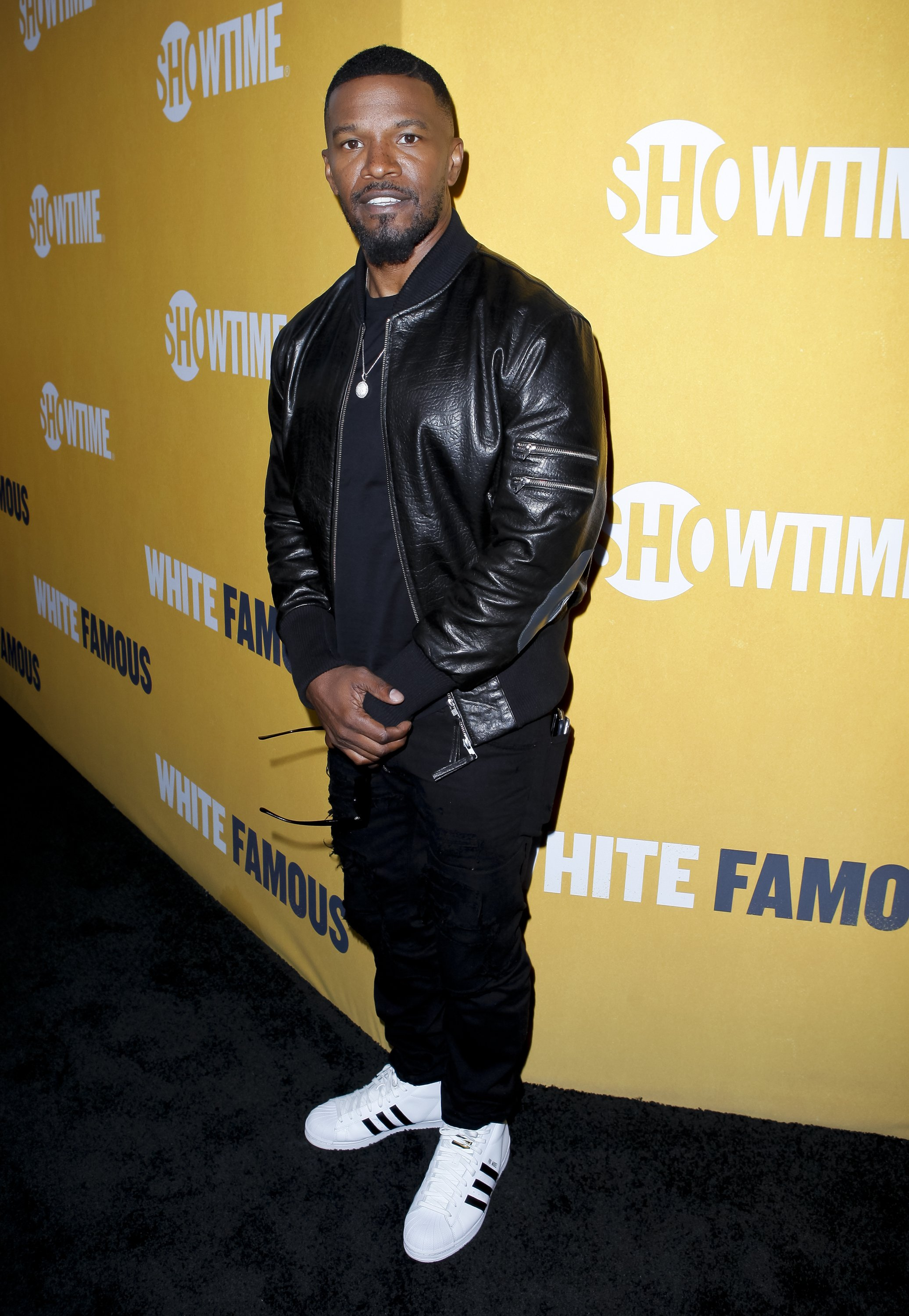"""Jamie Foxx attends the premiere of Showtime's """"White Famous"""" in West Hollywood, California on September 27, 2017 