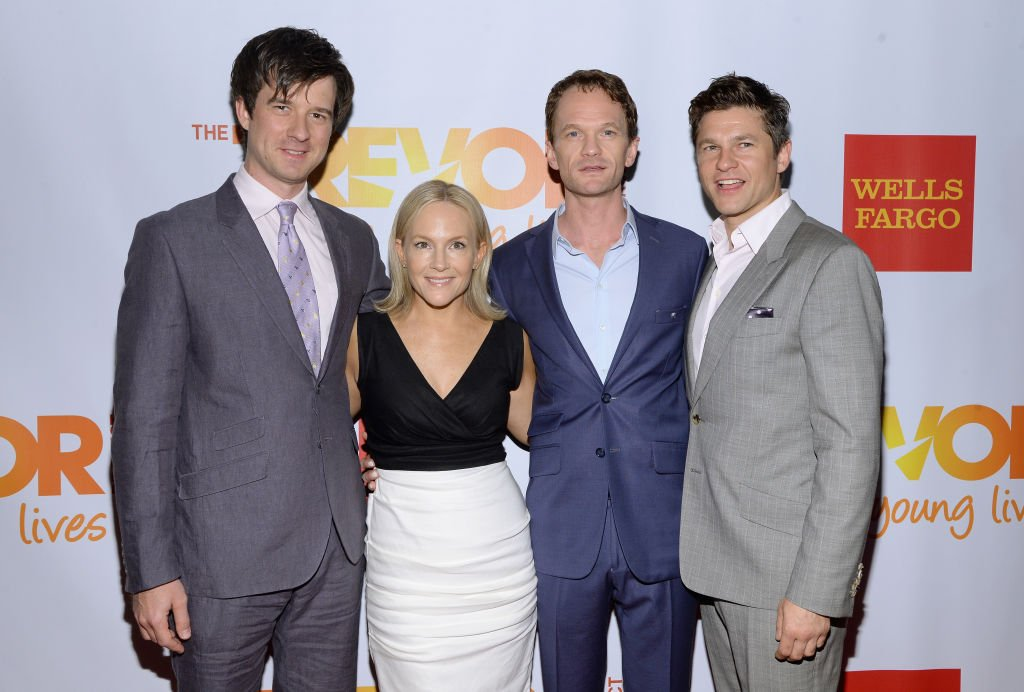 Christian Hebel, Rachael Harris, Neil Patrick Harris and David Burtka at the Marriott Marquis Hotel on June 16, 2014   Photo: Getty Images